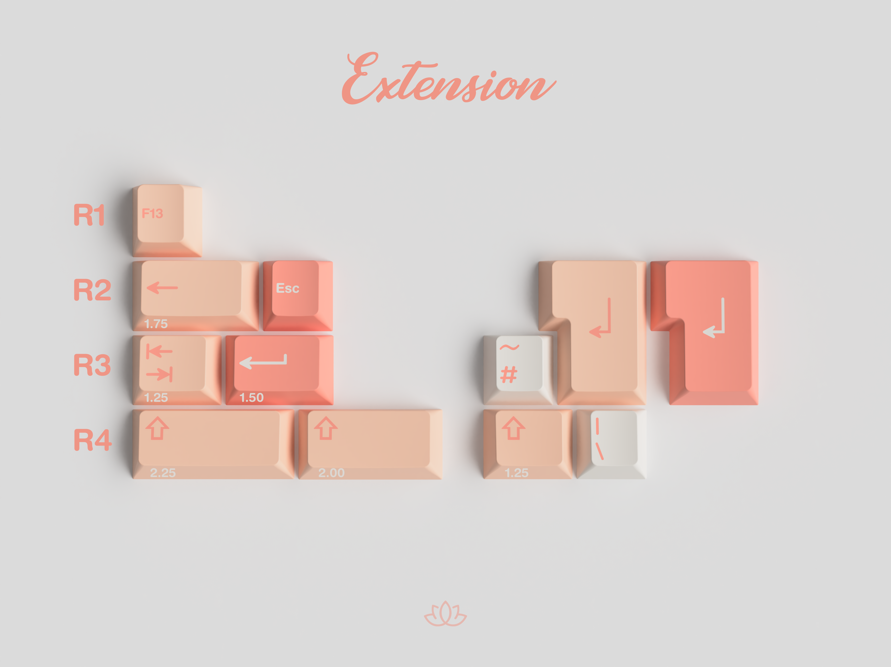 GMK Peach N Cream LITE