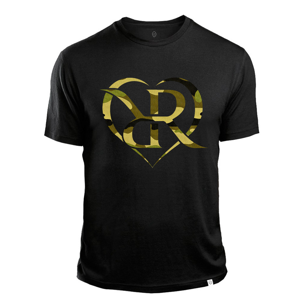 *LIMITED* BLACK CAMO HEART T SHIRT