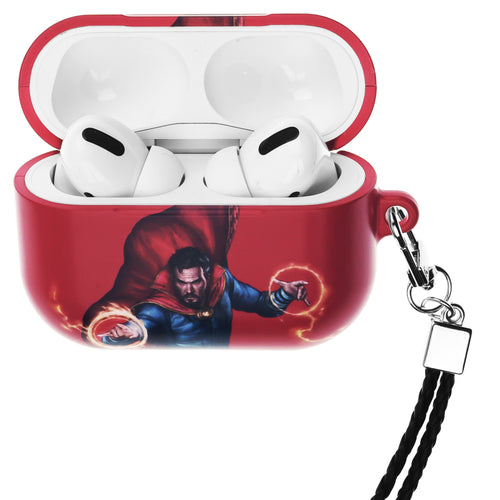 Marvel Avengers AirPods Pro Case Neck Lanyard Hard PC Shell Strap Hole Cover - Action Doctor Strange