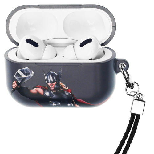 Marvel Avengers AirPods Pro Case Neck Lanyard Hard PC Shell Strap Hole Cover - Action Thor