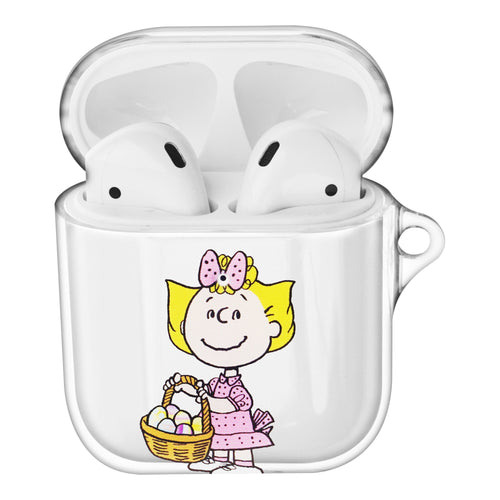 Peanuts Sally Brown Compatible with AirPods Case Clear Transparency Hard PC Shell Cute Cover - Face Sally