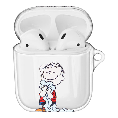 Peanuts Linus Van Pelt Compatible with AirPods Case Clear Transparency Hard PC Shell Cute Cover - Happy Linus