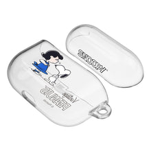 Load image into Gallery viewer, Peanuts Snoopy Compatible with AirPods Pro Case Clear Transparency Hard PC Shell Strap Hole Cover - With Snoopy Lucy