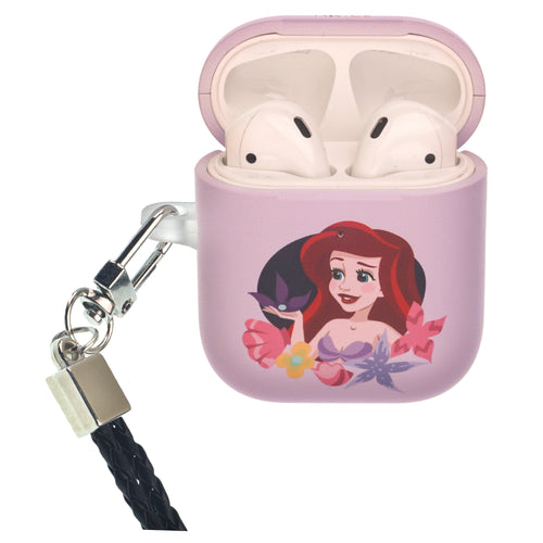 Disney Princess The Little Mermaid AirPods Case Neck Lanyard Protective Hard PC Shell Strap Hole Cover - Ariel