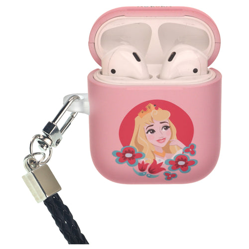 Disney Princess Sleeping Beauty AirPods Case Neck Lanyard Protective Hard PC Shell Strap Hole Cover - Aurora