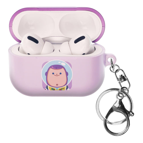 Disney AirPods Pro Case Key Ring Keychain Key Holder Hard PC Shell Strap Hole Cover - Toy Story Baby Buzz