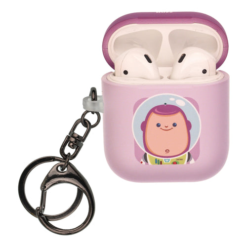 Disney AirPods Case Key Ring Keychain Key Holder Hard PC Shell Strap Hole Cover [Front LED Visible] - Toy Story Baby Buzz