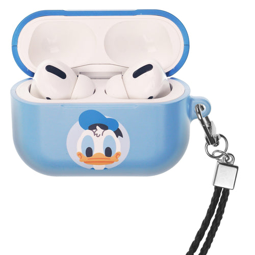 Disney AirPods Pro Case Neck Lanyard Hard PC Shell Strap Hole Cover - Baby Donald Duck
