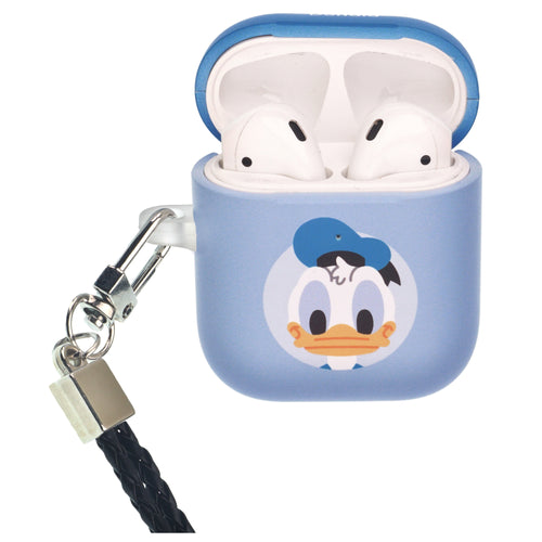 Disney AirPods Case Neck Lanyard Protective Hard PC Shell Strap Hole Cover - Baby Donald Duck