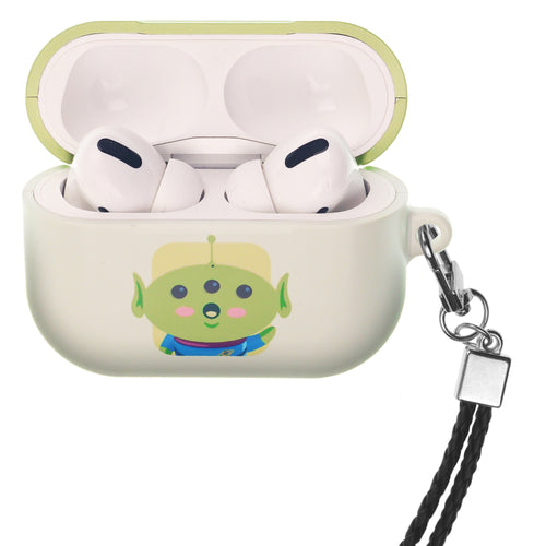 Disney AirPods Pro Case Neck Lanyard Hard PC Shell Strap Hole Cover - Toy Story Baby Little Green Man