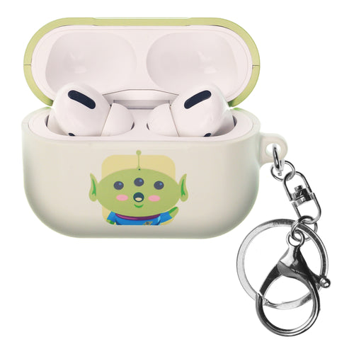 Disney AirPods Pro Case Key Ring Keychain Key Holder Hard PC Shell Strap Hole Cover - Toy Story Baby Little Green Man