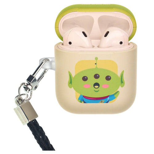 Disney AirPods Case Neck Lanyard Protective Hard PC Shell Strap Hole Cover - Toy Story Baby Little Green Man