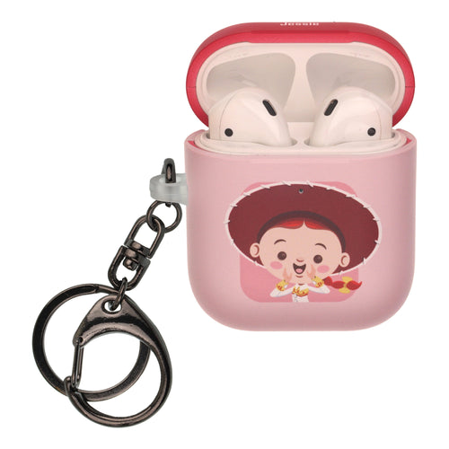 Disney AirPods Case Key Ring Keychain Key Holder Hard PC Shell Strap Hole Cover [Front LED Visible] - Toy Story Baby Jessie