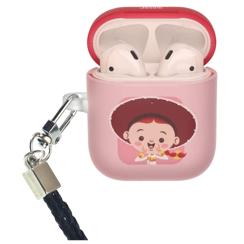 Disney AirPods Case Neck Lanyard Protective Hard PC Shell Strap Hole Cover - Toy Story Baby Jessie