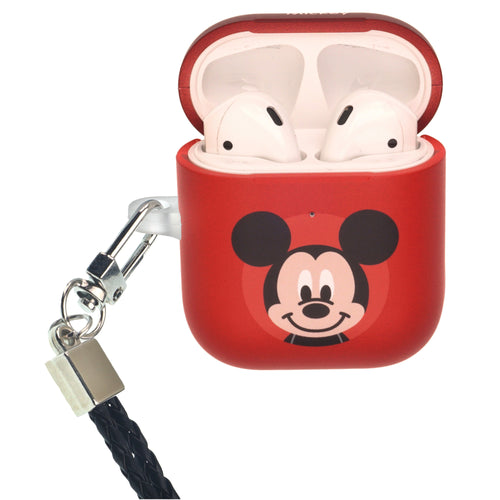 Disney AirPods Case Neck Lanyard Protective Hard PC Shell Strap Hole Cover - Baby Mickey Mouse