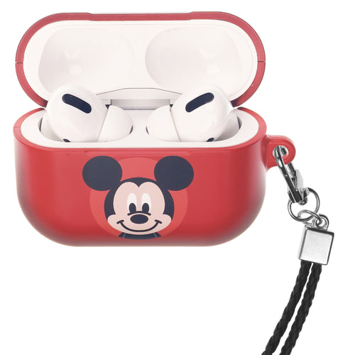 Disney AirPods Pro Case Neck Lanyard Hard PC Shell Strap Hole Cover - Baby Mickey Mouse