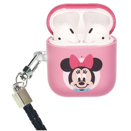 Disney AirPods Case Neck Lanyard Protective Hard PC Shell Strap Hole Cover - Baby Minnie Mouse