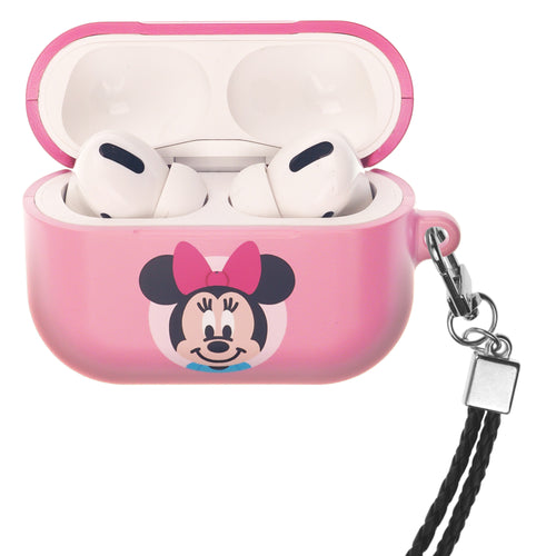 Disney AirPods Pro Case Neck Lanyard Hard PC Shell Strap Hole Cover - Baby Minnie Mouse