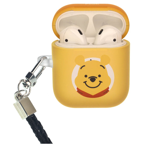 Disney AirPods Case Neck Lanyard Protective Hard PC Shell Strap Hole Cover - Baby Pooh