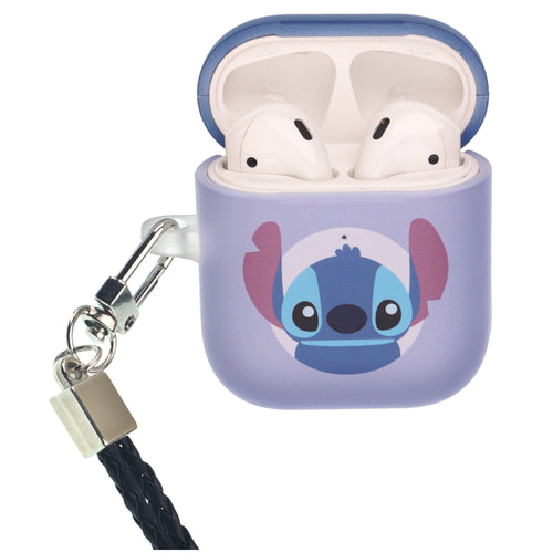 Disney AirPods Case Neck Lanyard Protective Hard PC Shell Strap Hole Cover - Baby Stitch