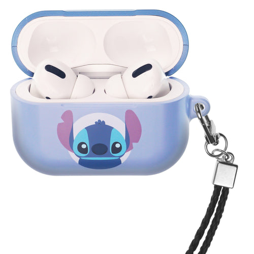 Disney AirPods Pro Case Neck Lanyard Hard PC Shell Strap Hole Cover - Baby Stitch