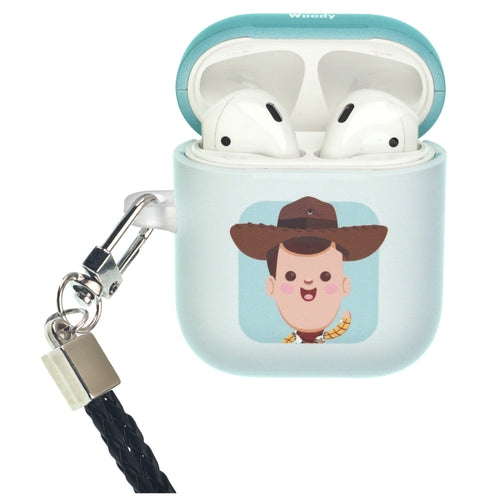 Disney AirPods Case Neck Lanyard Protective Hard PC Shell Strap Hole Cover - Toy Story Baby Woody