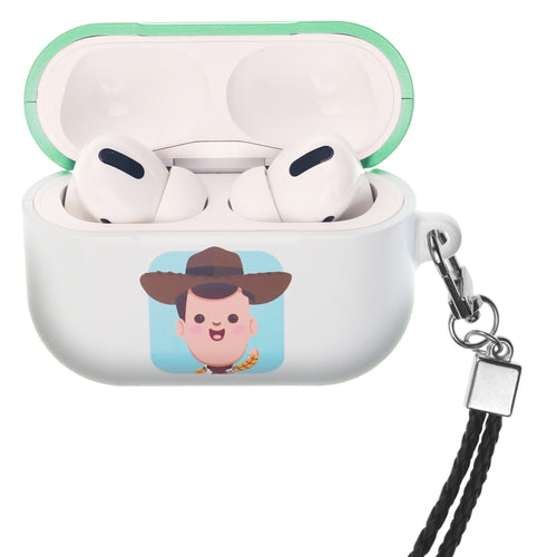 Disney AirPods Pro Case Neck Lanyard Hard PC Shell Strap Hole Cover - Toy Story Baby Woody