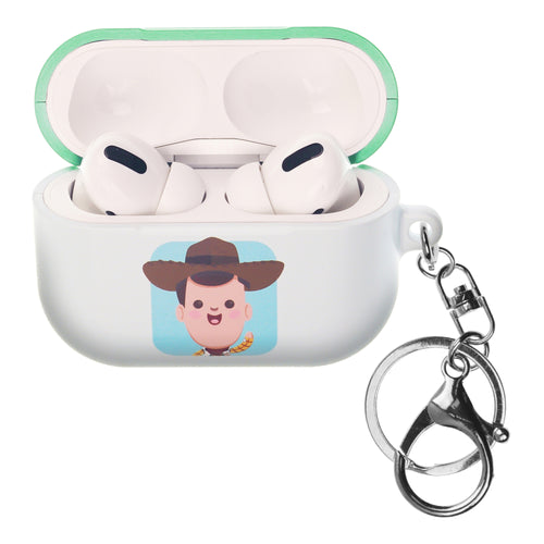 Disney AirPods Pro Case Key Ring Keychain Key Holder Hard PC Shell Strap Hole Cover - Toy Story Baby Woody