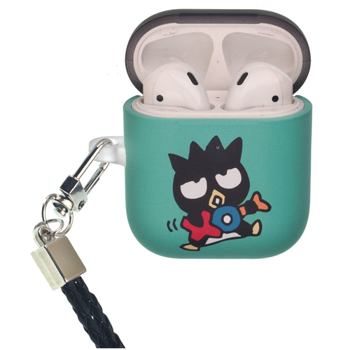 Sanrio AirPods Case Neck Lanyard Protective Hard PC Shell Strap Hole Cover - Bad Badtz-Maru