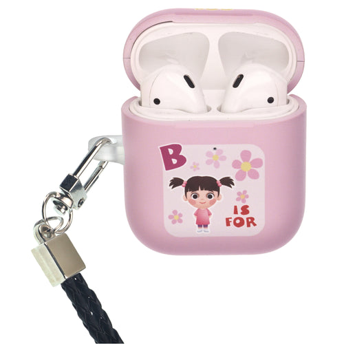 Disney AirPods Case Neck Lanyard Protective Hard PC Shell Strap Hole Cover - Monsters Boo