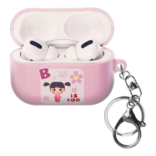 Disney AirPods Pro Case Key Ring Keychain Key Holder Hard PC Shell Strap Hole Cover - Monsters Boo