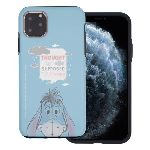 iPhone 11 Pro Max Case (6.5inch) Disney Pooh Layered Hybrid [TPU + PC] Bumper Cover - Words Eeyore Face