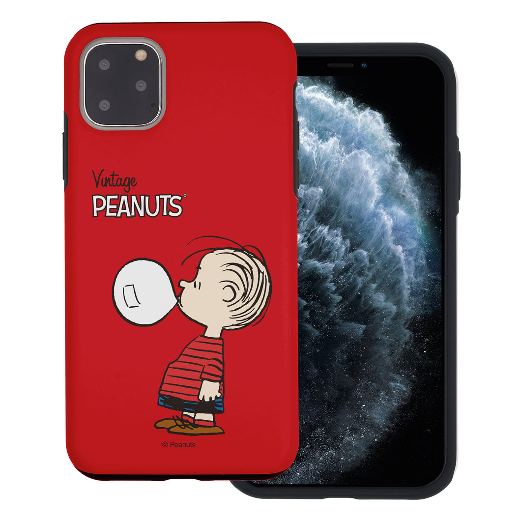 iPhone 12 Pro Max Case (6.7inch) PEANUTS Layered Hybrid [TPU + PC] Bumper Cover - Simple Linus