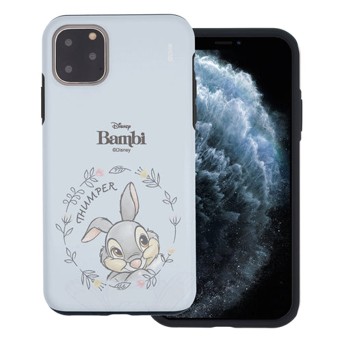 iPhone 12 mini Case (5.4inch) Disney Bambi Layered Hybrid [TPU + PC] Bumper Cover - Face Thumper