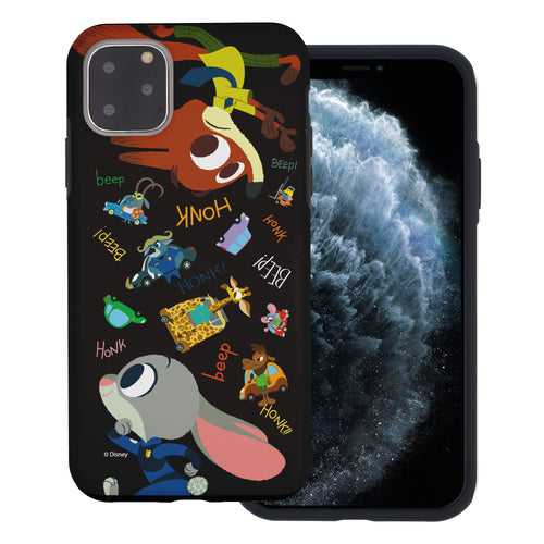 iPhone 11 Pro Max Case (6.5inch) Disney Zootopia Layered Hybrid [TPU + PC] Bumper Cover - Zootopia Black
