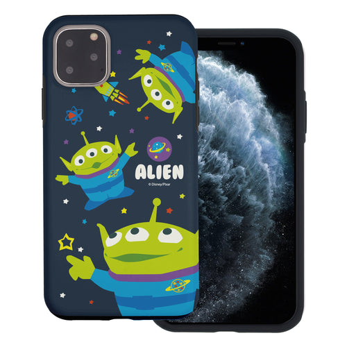 iPhone 11 Case (6.1inch) Toy Story Layered Hybrid [TPU + PC] Bumper Cover - Pattern Alien Space