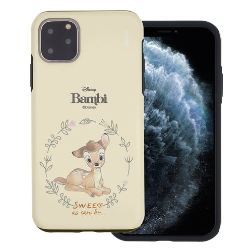 iPhone 11 Pro Max Case (6.5inch) Disney Bambi Layered Hybrid [TPU + PC] Bumper Cover - Full Bambi