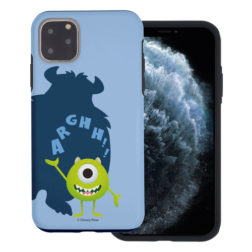 iPhone 11 Case (6.1inch) Monsters University inc Layered Hybrid [TPU + PC] Bumper Cover - Simple Mike