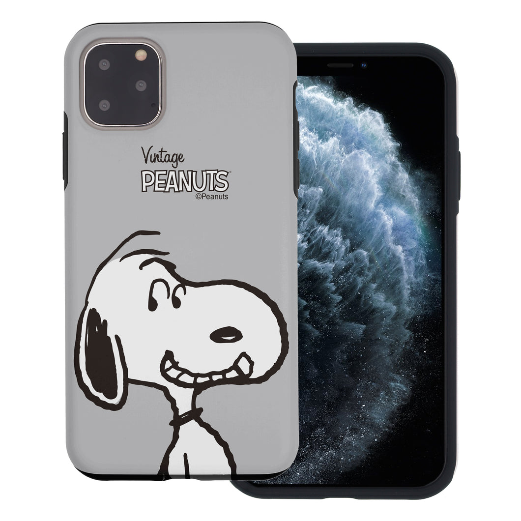 iPhone 11 Case (6.1inch) PEANUTS Layered Hybrid [TPU + PC] Bumper Cover - Face Snoopy