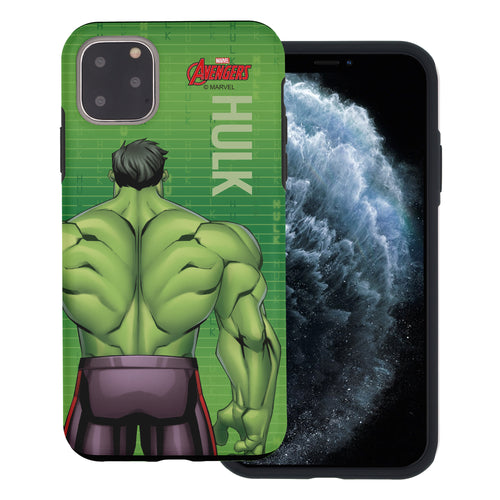 iPhone 11 Case (6.1inch) Marvel Avengers Layered Hybrid [TPU + PC] Bumper Cover - Back Huk