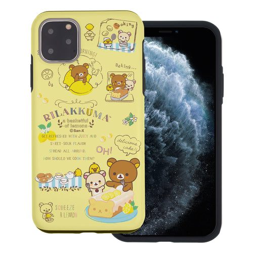 iPhone 11 Pro Max Case (6.5inch) Rilakkuma Layered Hybrid [TPU + PC] Bumper Cover - Rilakkuma Cooking