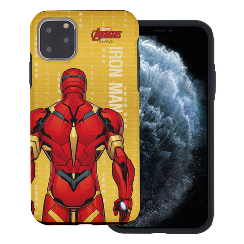 iPhone 12 Pro / iPhone 12 Case (6.1inch) Marvel Avengers Layered Hybrid [TPU + PC] Bumper Cover - Back Iron