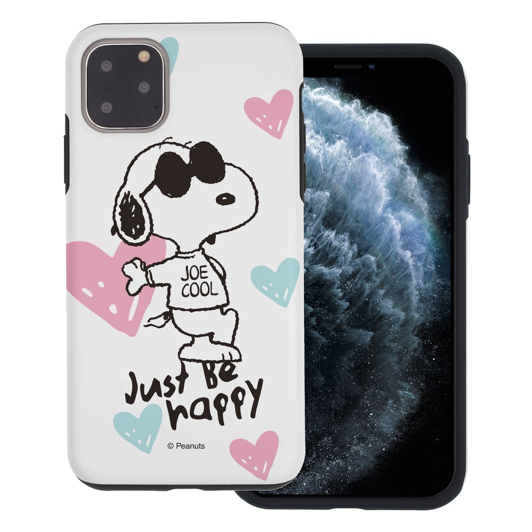 iPhone 11 Pro Max Case (6.5inch) PEANUTS Layered Hybrid [TPU + PC] Bumper Cover - Snoopy Love Pink