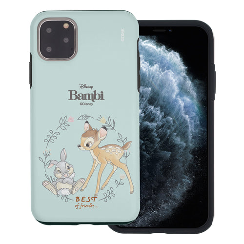 iPhone 11 Pro Max Case (6.5inch) Disney Bambi Layered Hybrid [TPU + PC] Bumper Cover - Full Bambi Thumper