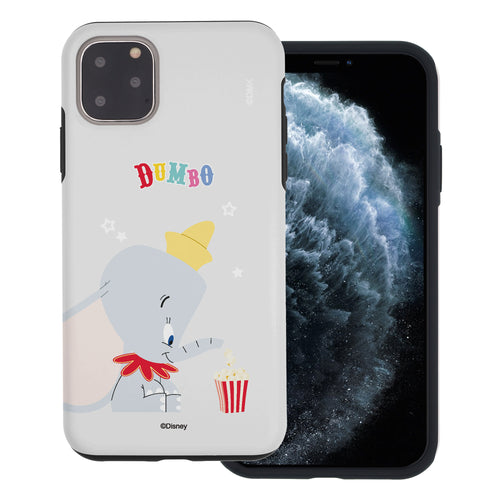 iPhone 12 mini Case (5.4inch) Disney Dumbo Layered Hybrid [TPU + PC] Bumper Cover - Dumbo Popcorn