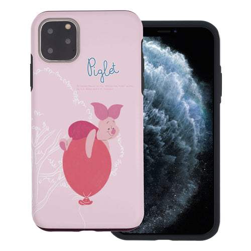 iPhone 11 Pro Max Case (6.5inch) Disney Pooh Layered Hybrid [TPU + PC] Bumper Cover - Balloon Piglet