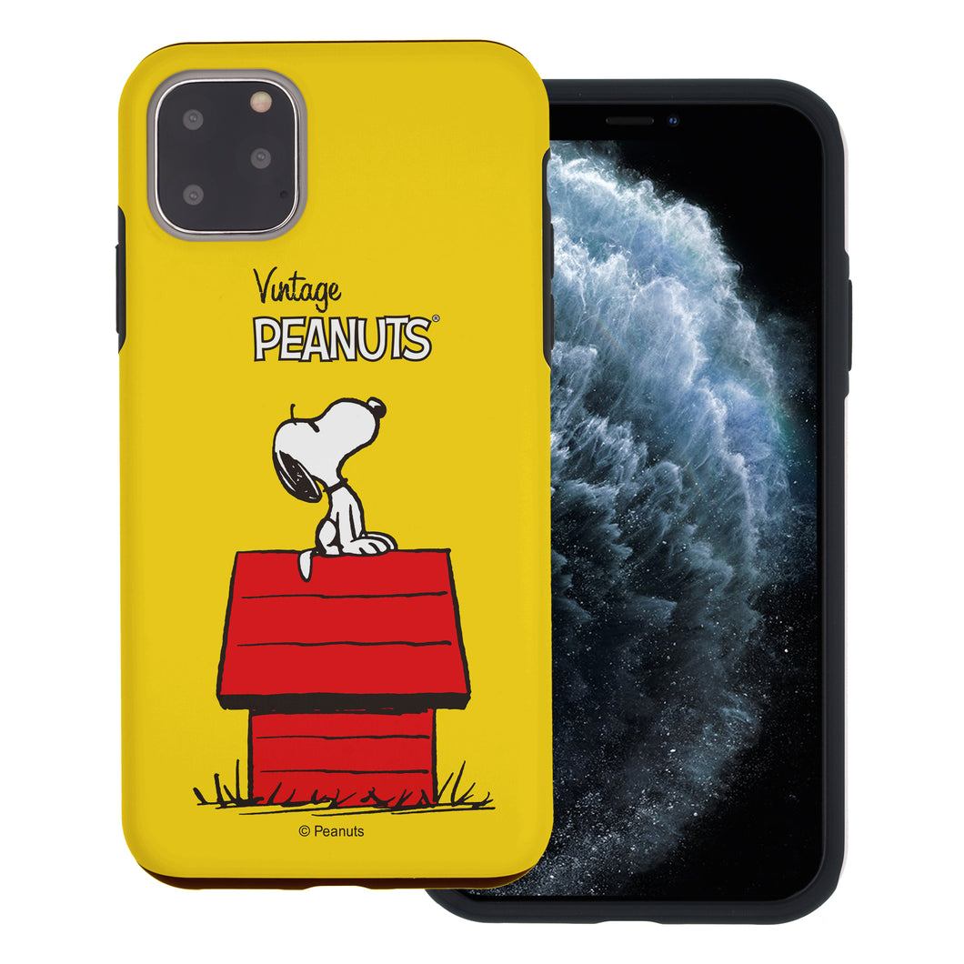 iPhone 11 Pro Case (5.8inch) PEANUTS Layered Hybrid [TPU + PC] Bumper Cover - Simple Snoopy House