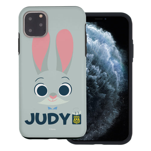 iPhone 11 Pro Max Case (6.5inch) Disney Zootopia Layered Hybrid [TPU + PC] Bumper Cover - Face Judy