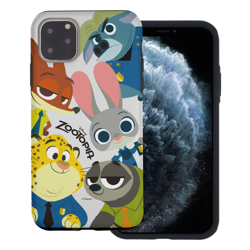 iPhone 11 Pro Max Case (6.5inch) Disney Zootopia Layered Hybrid [TPU + PC] Bumper Cover - Zootopia Big