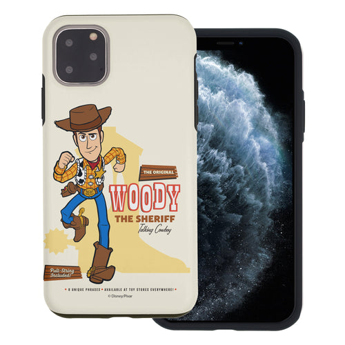 iPhone 11 Case (6.1inch) Toy Story Layered Hybrid [TPU + PC] Bumper Cover - Full Woody